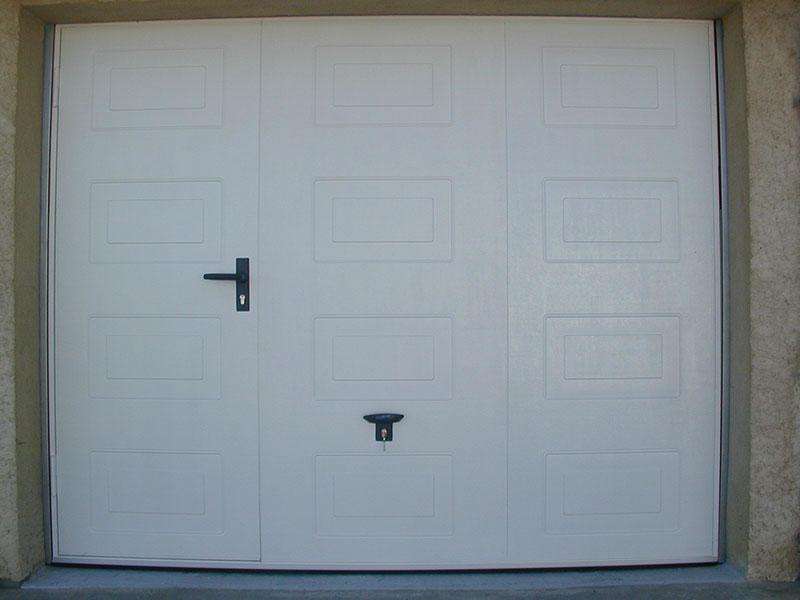 Porte de garage basculante cassette avec portillon - Porte de garage basculante a cassette ...