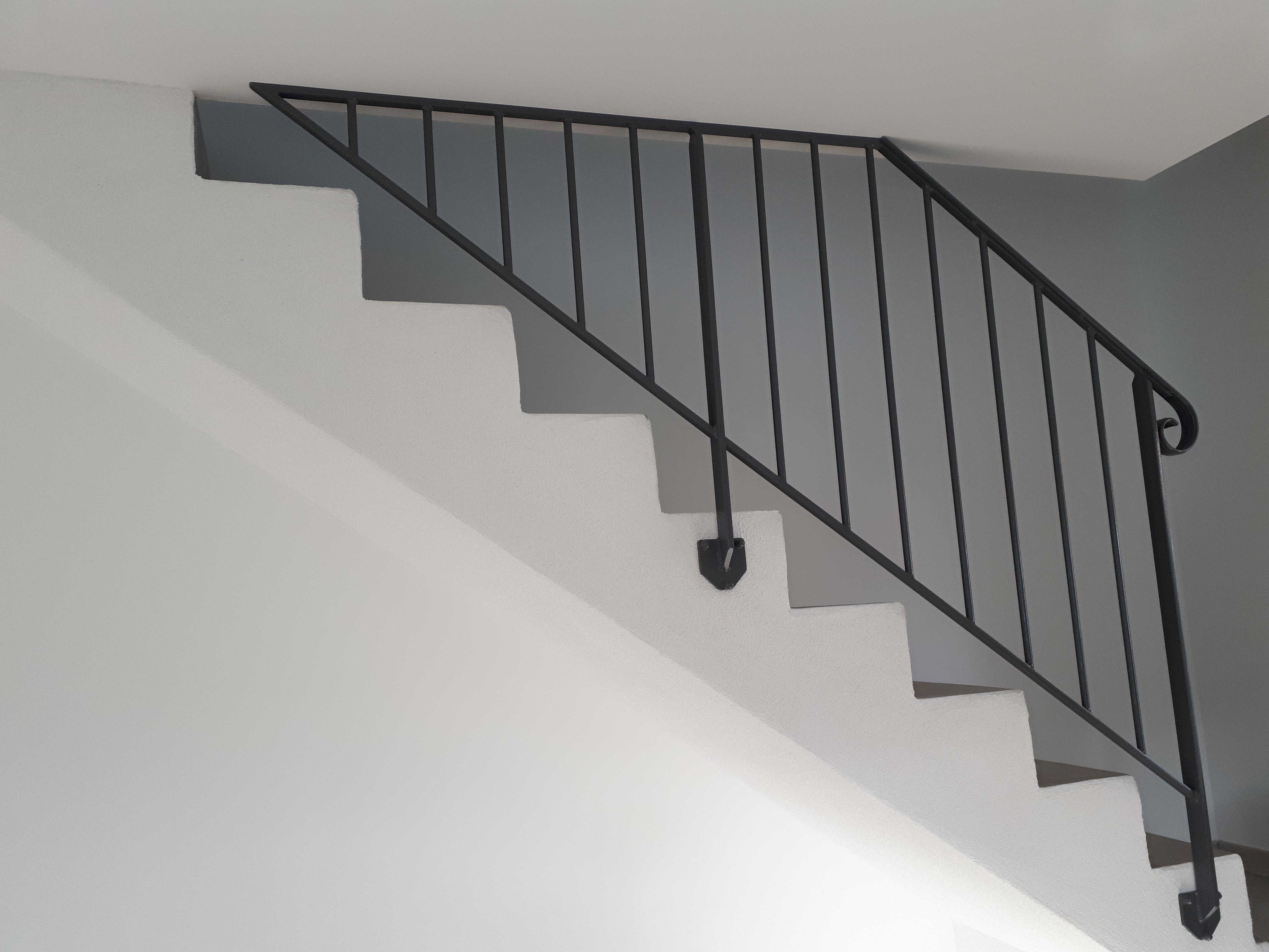 Fixation De Rideau Au Plafond garde-corps barreaux droits, fixation sous plafond